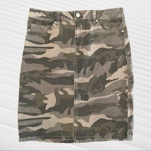 D. JEANS Denim Mini Skirt 4 Camouflage
